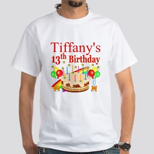 PERSONALIZED 13TH White T-Shirt