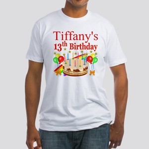 PERSONALIZED 13TH Fitted T-Shirt