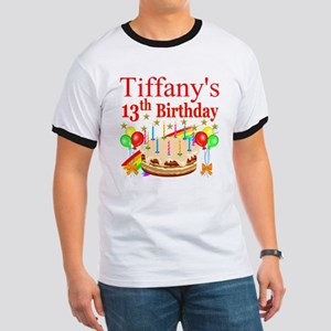 PERSONALIZED 13TH Ringer T
