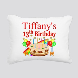 PERSONALIZED 13TH Rectangular Canvas Pillow