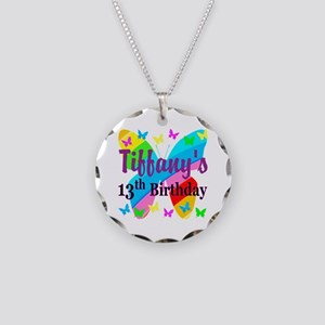 PERSONALIZED 13TH Necklace Circle Charm