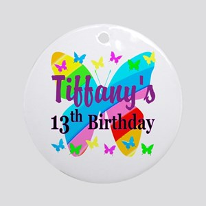 PERSONALIZED 13TH Round Ornament