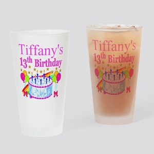 PERSONALIZED 13TH Drinking Glass