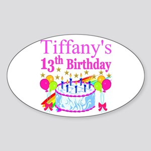 PERSONALIZED 13TH Sticker (Oval)