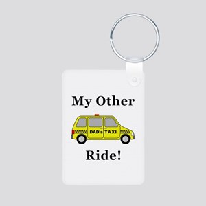 Dads Taxi My Other Ride Aluminum Photo Keychain