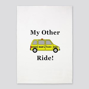 Dads Taxi My Other Ride 5'x7'Area Rug
