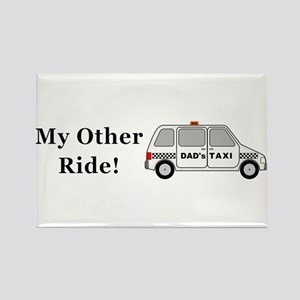 Dads Taxi My Other Ride Rectangle Magnet