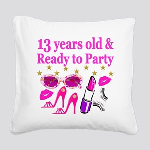 13TH BIRTHDAY Square Canvas Pillow