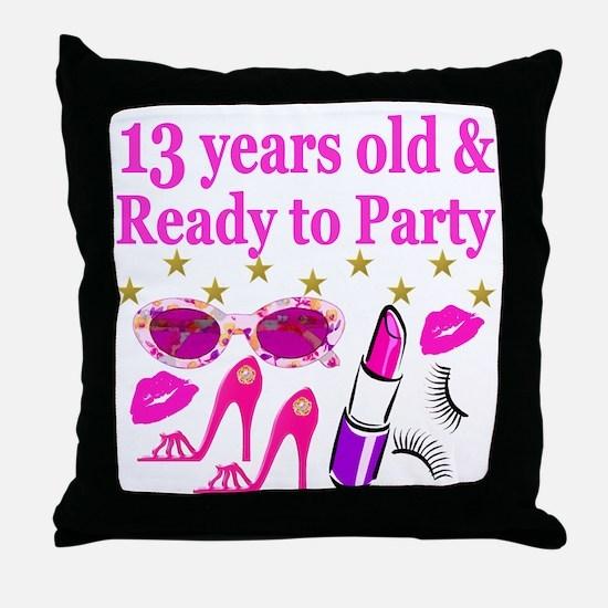 13TH BIRTHDAY Throw Pillow
