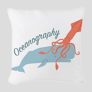 Oceanography Woven Throw Pillow