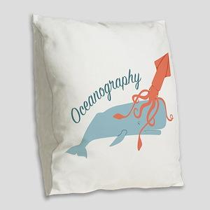Oceanography Burlap Throw Pillow