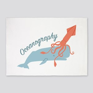 Oceanography 5'x7'Area Rug