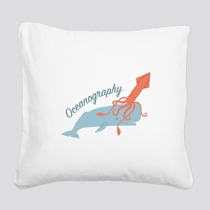 Oceanography Square Canvas Pillow