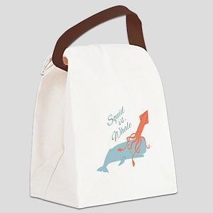 Squid Vs Whale Canvas Lunch Bag