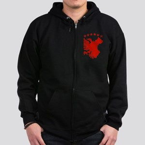 Shqipe - Autochthonous Flag Zip Hoodie (dark)