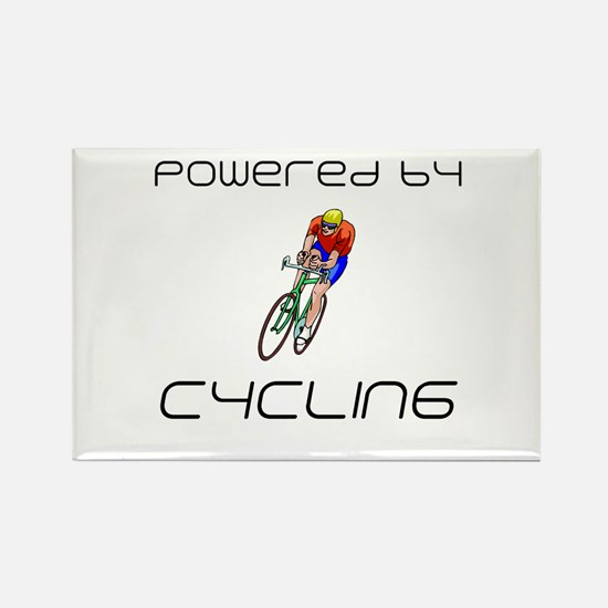 Powered By Cycling Rectangle Magnet