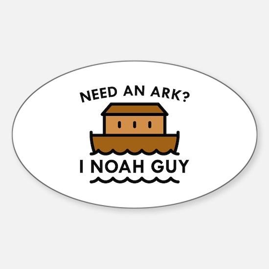 Need An Ark? Sticker (Oval)