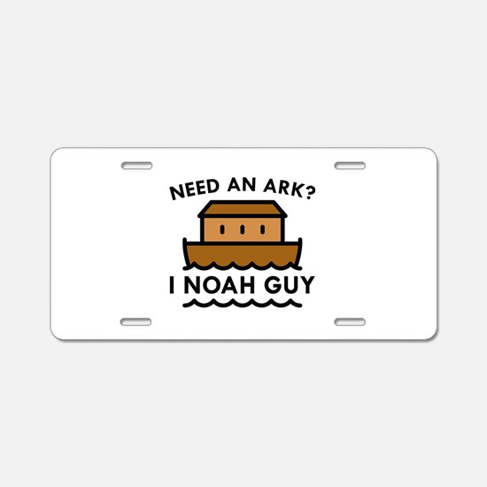 Need An Ark? Aluminum License Plate