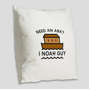 Need An Ark? Burlap Throw Pillow