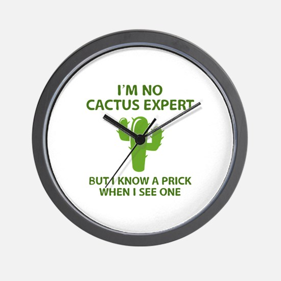 I'm No Cactus Expert Wall Clock