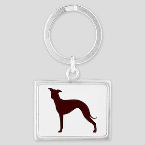 Greyhound Two Brown 2 Keychains
