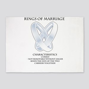 RPG - rings of marriage 5'x7'Area Rug