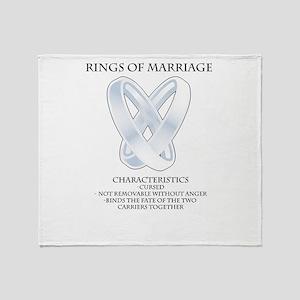 RPG - rings of marriage Throw Blanket