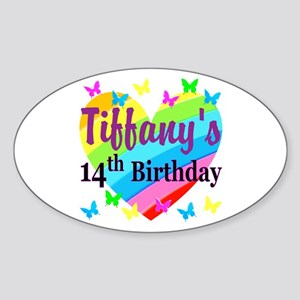 14TH BIRTHDAY Sticker (Oval)