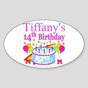 14TH BIRTHDAY Sticker (Oval)