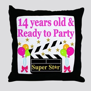 14 YEARS OLD Throw Pillow
