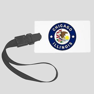 Chicago Illinois Large Luggage Tag