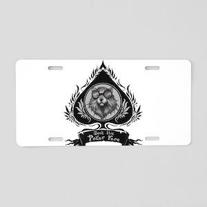 Poker face Aluminum License Plate