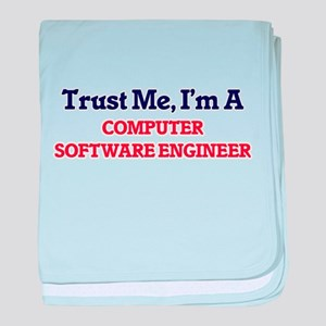 Trust me, I'm a Computer Software Eng baby blanket