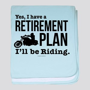 Riding Retirement Plan baby blanket