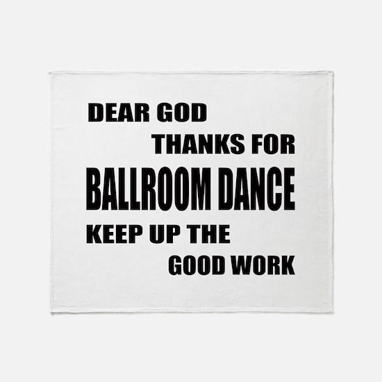 Some Learn Ballroom dance Throw Blanket