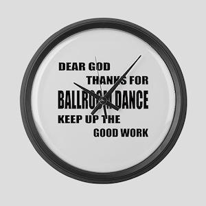 Some Learn Ballroom dance Large Wall Clock