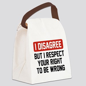 I Disagree Canvas Lunch Bag