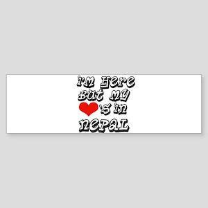 Heart in Nepal Bumper Sticker