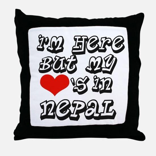 Heart in Nepal Throw Pillow