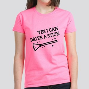 Yes I Can Drive A Stick Women's Dark T-Shirt