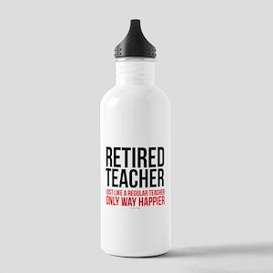 Happy Retired Teacher Stainless Water Bottle 1.0L