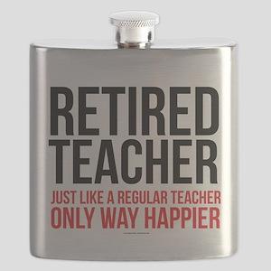 Happy Retired Teacher Flask