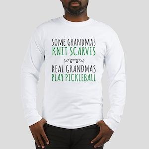 Real Grandmas Play Pickleball Long Sleeve T-Shirt