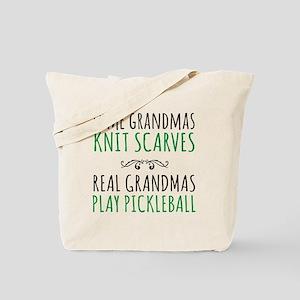 Real Grandmas Play Pickleball Tote Bag