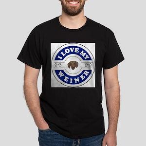 I Love My Weiner Ash Grey T-Shirt