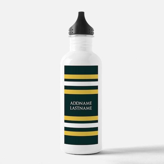 Sports Team Stripes Cu Water Bottle