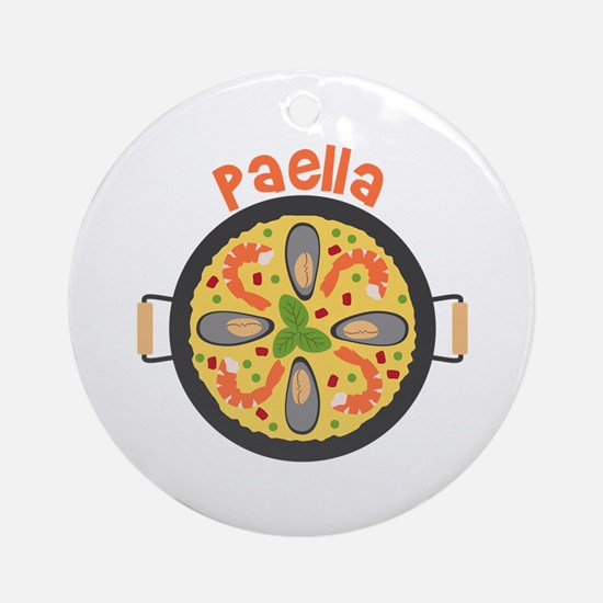 Paella Round Ornament
