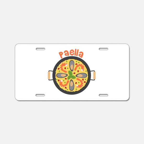 Paella Aluminum License Plate