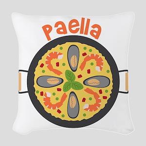 Paella Woven Throw Pillow
