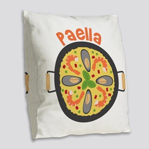 Paella Burlap Throw Pillow